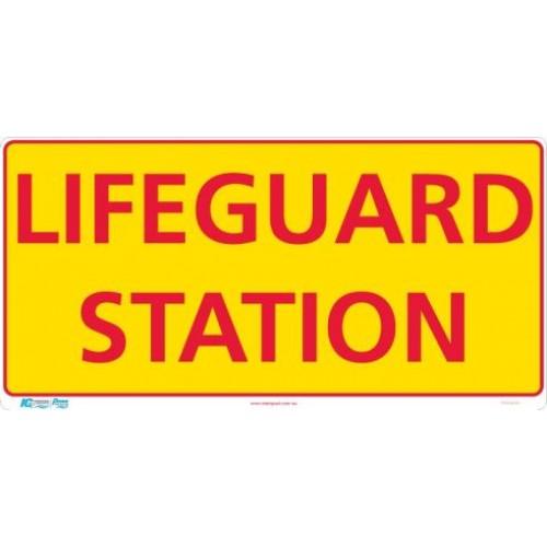 Lifeguard Station Sign