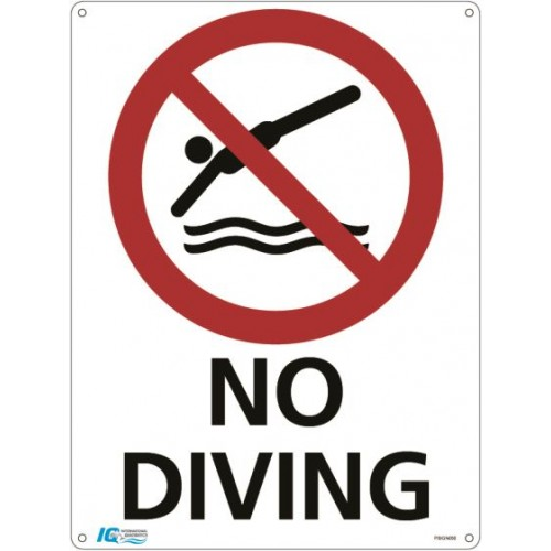 No Diving Prohibition Sign