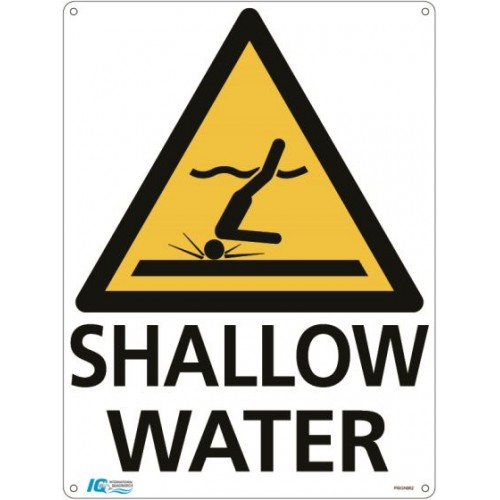 Shallow Water Triangle Warning Sign