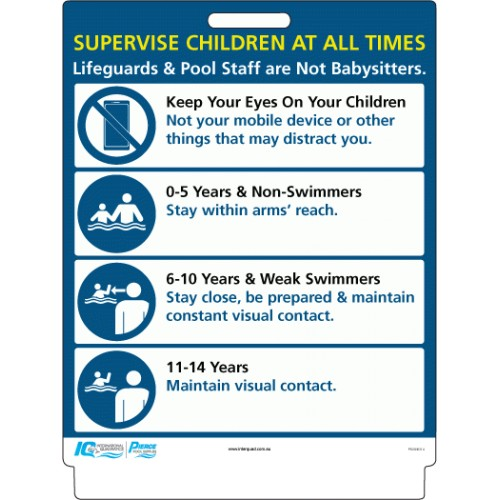 Pavement Sign - Supervise Children at All Times